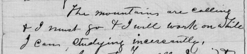 Excerpt of John Muir's